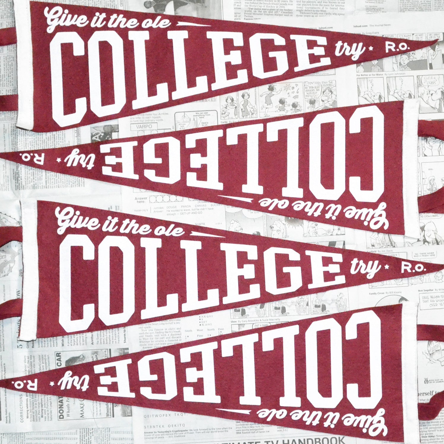COLLEGE TRY PENNANT
