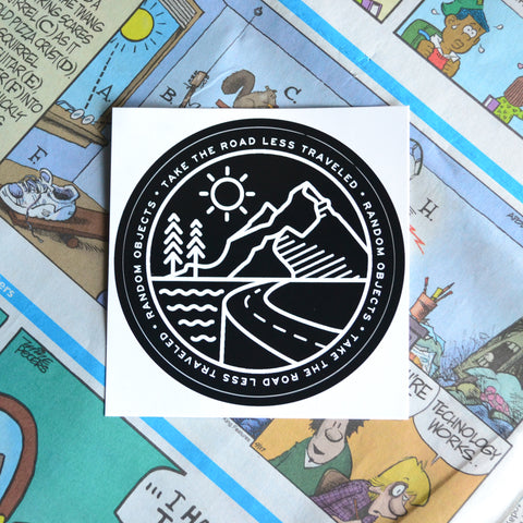 """ROAD LESS TRAVELED"" STICKER"