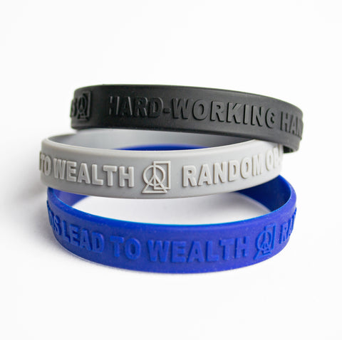 """WORKING HANDS"" SILICONE WRISTBANDS"