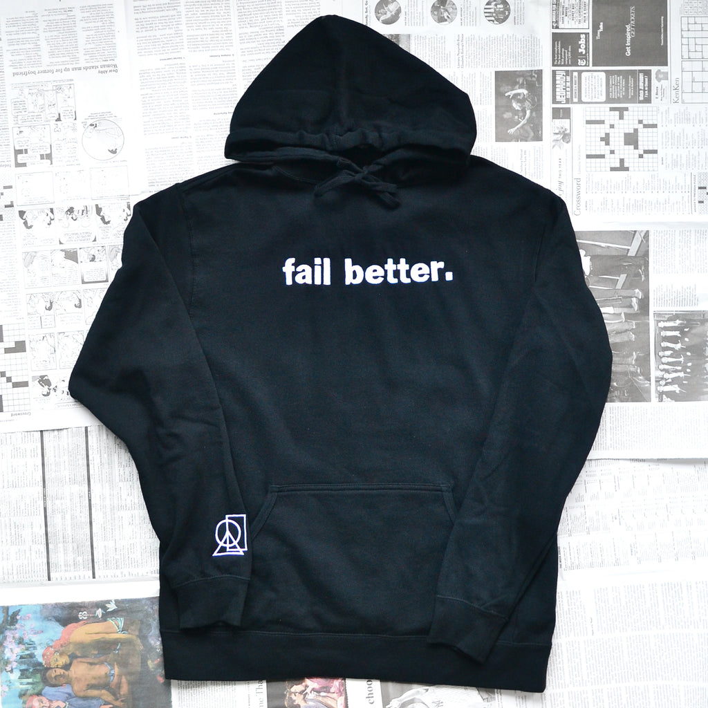 """FAIL BETTER"" PULLOVER SWEATER"