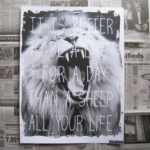 LION FOR A DAY PRINT