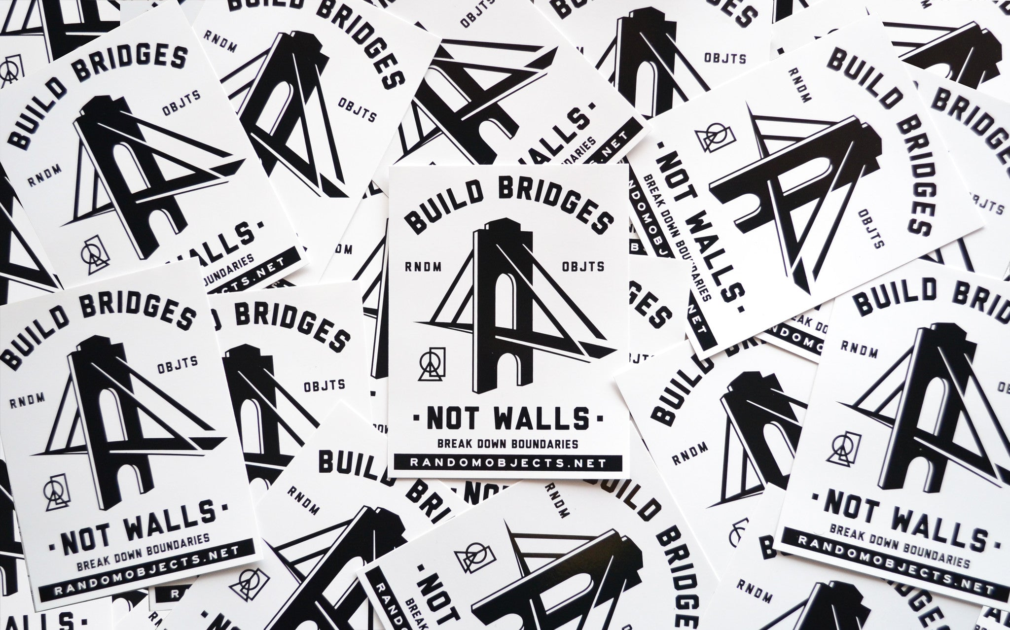 """BUILD BRIDGES"" STICKER"
