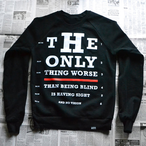 """VISION TEST"" CREWNECK SWEATER"