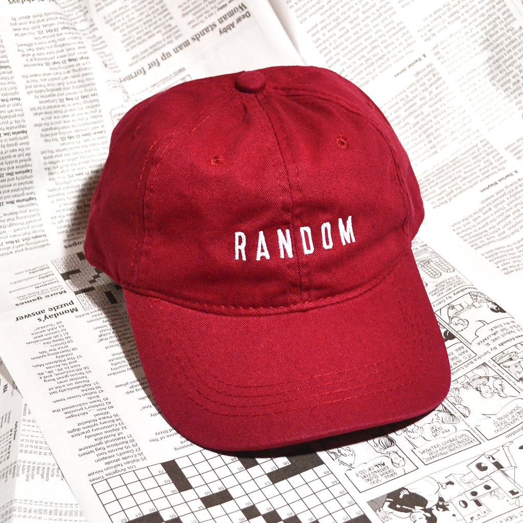 """RANDOM"" DAD HAT (MAROON)"
