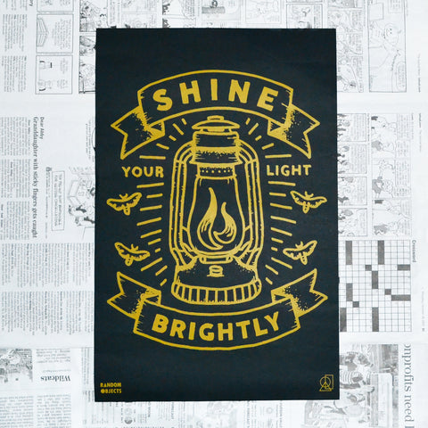 """SHINE BRIGHTLY"" PRINT"