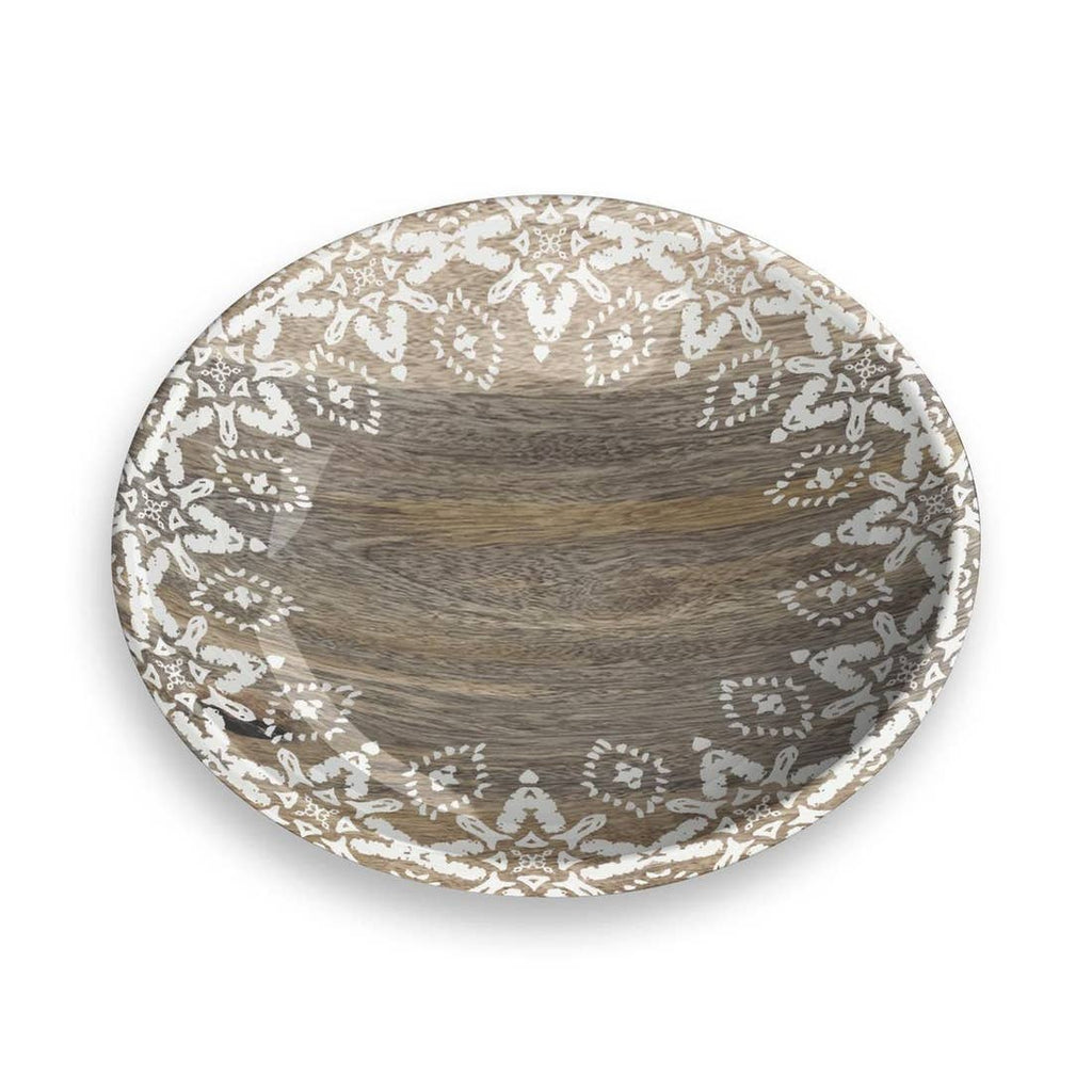 Moroccan Wood Pet Saucer