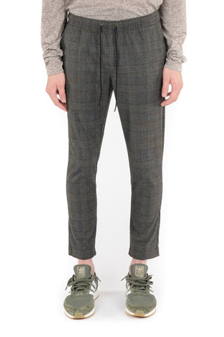Plaid Trousers - Charcoal
