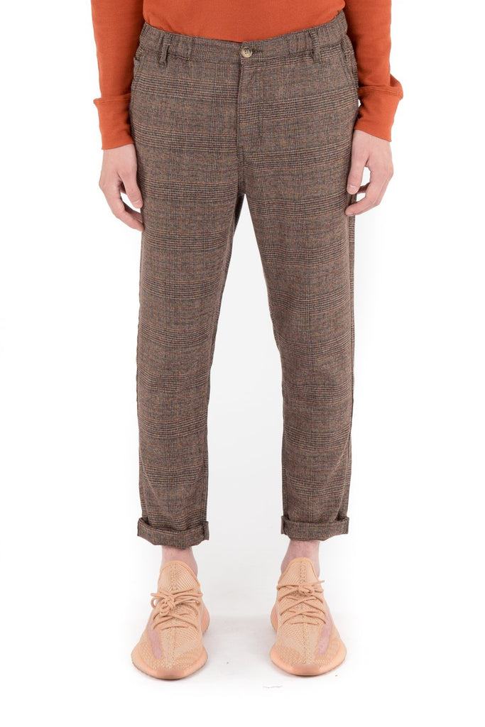 Plaid Trousers - Burnt Orange