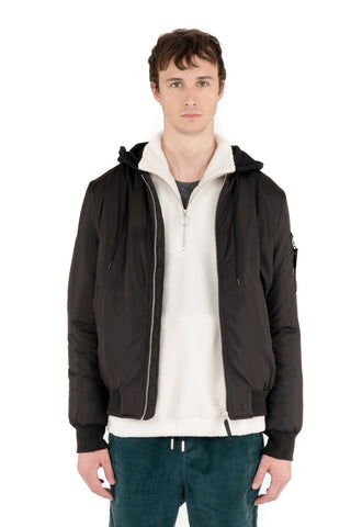 Hooded Antares Bomber - Black