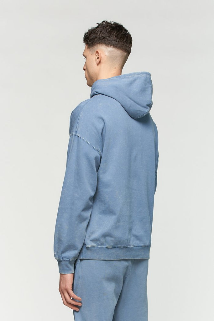 Vintage Washed Hoodie - Captain Blue