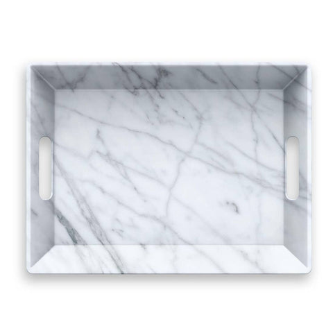Carrara Marble Handled Serve Tray
