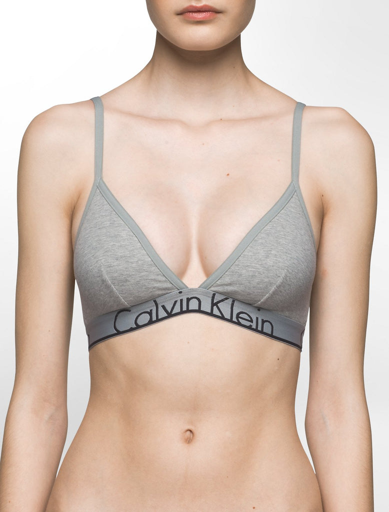 Logo Triangle Bra - Grey