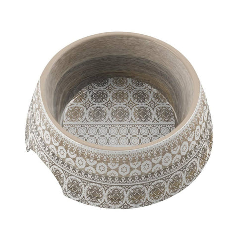 Moroccan Wood Pet Bowl - Medium