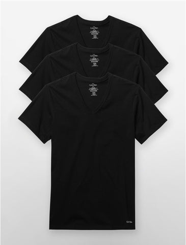 Black V-Neck Tee Pack