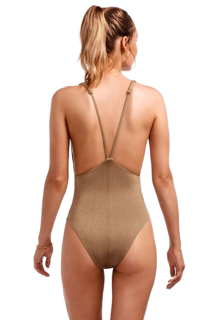 Stella Bodysuit - Bronze Metallic