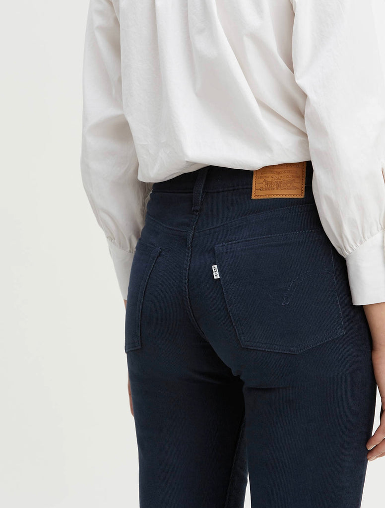 Wedgie Straight Corduroy - Navy
