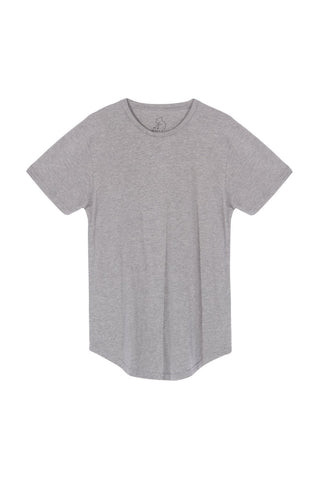 Scoop Tee - Heather Grey