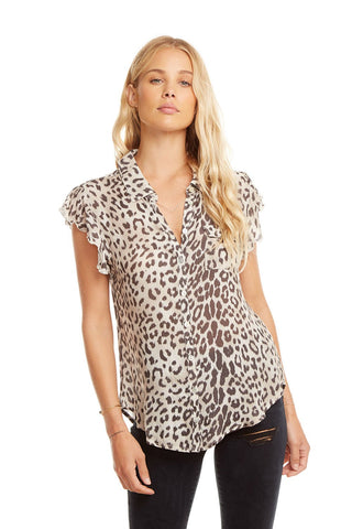 Button Down - Animal Print