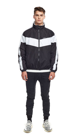 Winter Track Jacket - Black/White