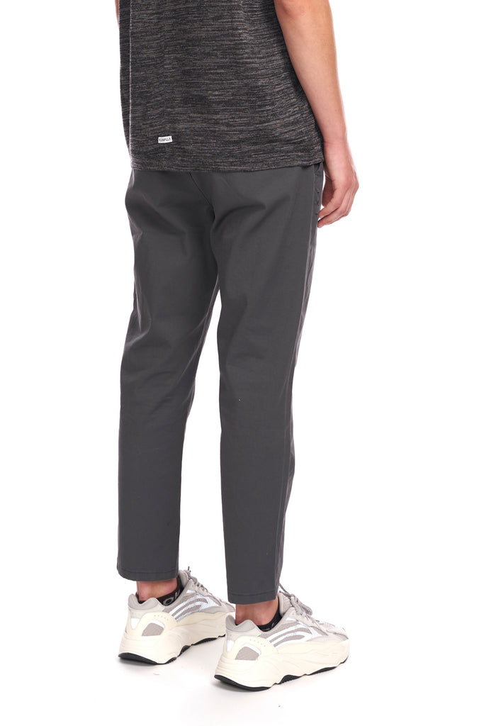 Cropped Ankle Chino - Charcoal