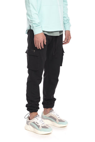 Cargo Sweatpant - Black