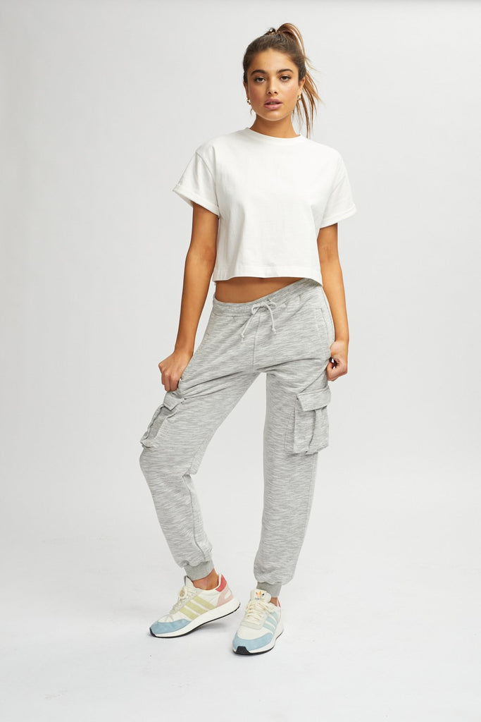 Double Cargo Pocket Joggers - Grey