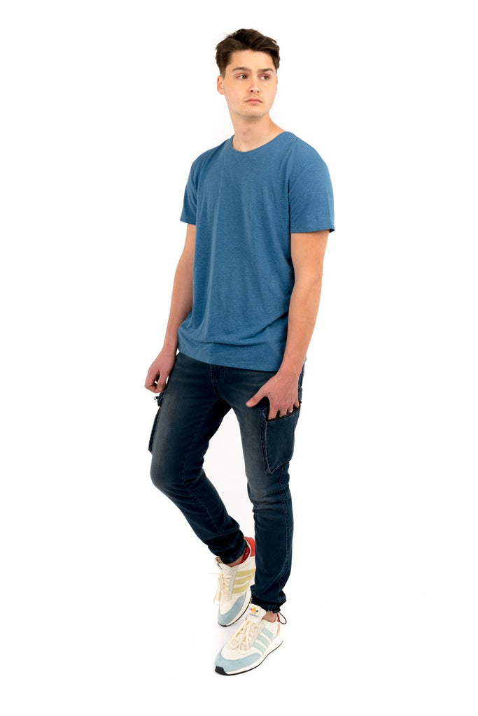 Linen Essential Tee - Blue