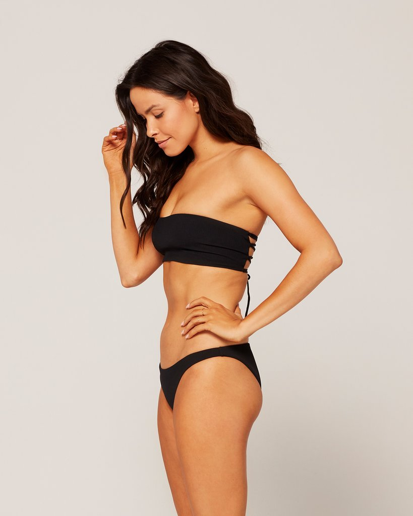 Beach Wave Top - Black