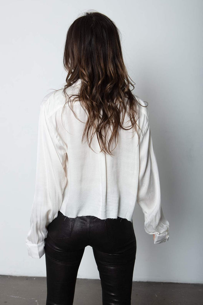 Crop Favourite Shirt - White