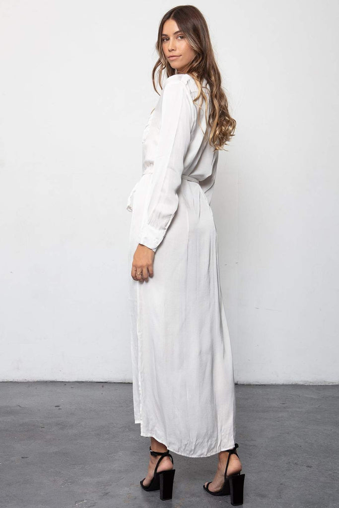 Darian Shirt Dress - White