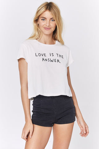 Answer Vintage Cropped Tee