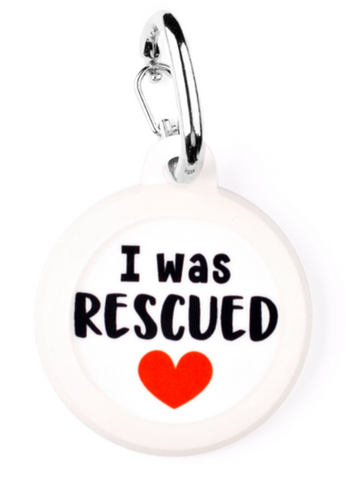 I Was Rescued Pet Tag