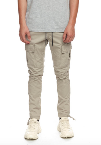Lightweight Cargo Trousers - Beige