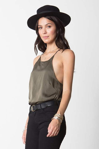 High Neck Cami- Olive
