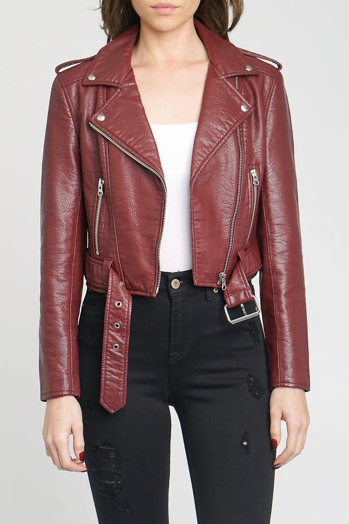 Tracy Moto Jacket - Mahogany