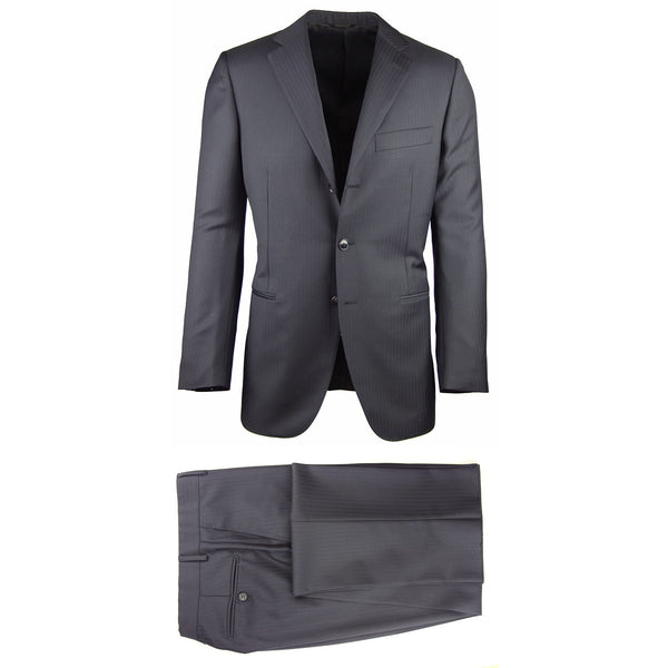 New $2400 Burberry Midnight Navy Blue Super 140's Suit - (OXFORD1131011) - Parent