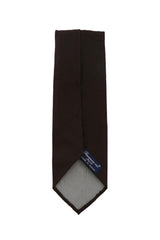 $195 Finamore Napoli Brown Solid Silk Tie -  x  - (1326)