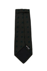 $265 Kiton Dark Green Geometric Silk Tie -  x  - (1433)