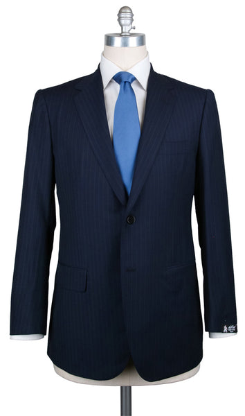 New $2700 Abla by Sartorio Navy Blue Striped Suit - (UA200S494706R7) - Parent