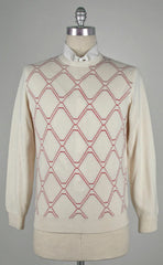 New $725 Cesare Attolini Off White Sweater Small/48