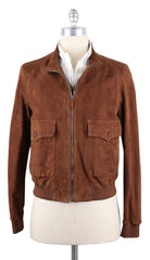 $4000 Cesare Attolini Brown Jacket - Zipper Front - Size 40 (US) / 50 (EU)