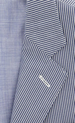 New $2100 Luciano Barbera Blue Sportcoat - 40/50 - (111C80/17053/86)