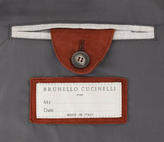 $3645 Brunello Cucinelli Orange Suede Solid Jacket Vest - (621) - Parent