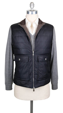 Brunello Cucinelli Navy Blue Reversible Vest