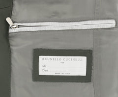$5145 Brunello Cucinelli Dark Green Leather Moto Jacket - (153) - Parent