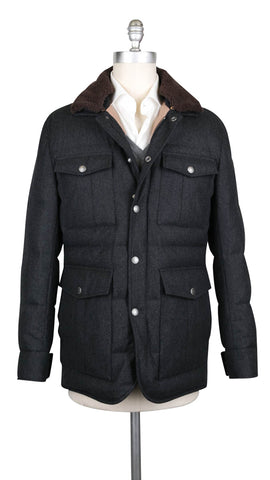 Brunello Cucinelli Dark Gray Waterproof Puffer Jacket