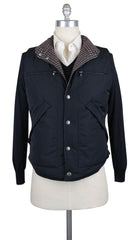 $3595 Brunello Cucinelli Midnight Navy Blue Reversible Puffer Vest - L/L - (642)