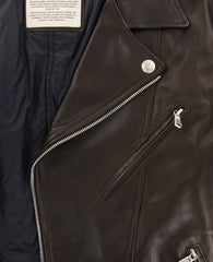 New $5775 Brunello Cucinelli Brown Leather Fancy Jacket - (BC929176) - Parent