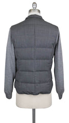$2395 Brunello Cucinelli Gray Wool Melange Puffer Jacket Vest - (620) - Parent
