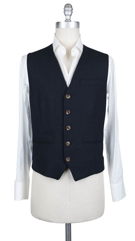 Brunello Cucinelli Midnight Navy Blue Suit Vest